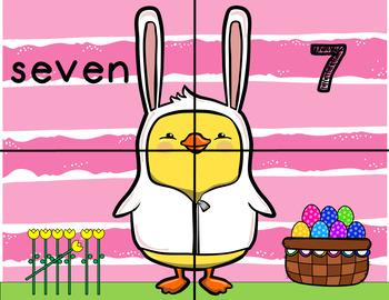 Easter 1-10 Number Match Puzzles