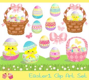 Easter 1 Clipart Set