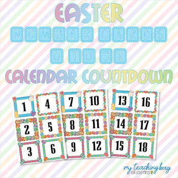 Easter 1 to 31 Number Cards (Suitable for Easter Countdown)