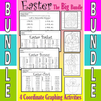 Easter - The Big Bundle of 12 Coordinate Graphing Activities
