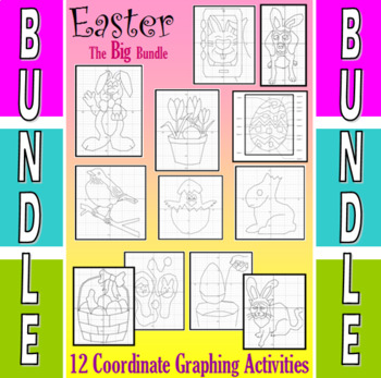 Easter - 10 Coordinate Graphing Activities - The Big Bundle