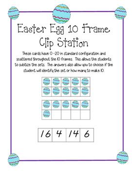 Easter 10 Frame Clip Activity