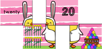 Easter 11-20 Number Match Puzzle Center Game