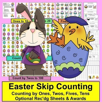 Easter Activities: Value Bundle!Save $5.00: Readers, Blending, Sight Words, Math