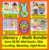 Easter Activities:Value Bundle!Save $5.00:Mini Book, Blending, Sight Words, Math