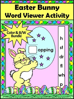 Easter Activities: Easter Bunny Word Viewer Language Arts Activity Packet