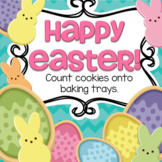 Easter Counting Cookies 10-frames on Baking Trays Center