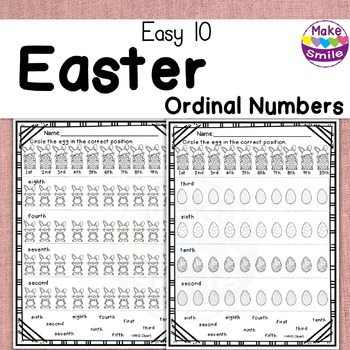 Easy 10: Easter Ordinal Numbers