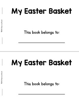 Easter Early Reader Color Words