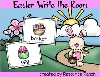 Easter Write the Room - FREE