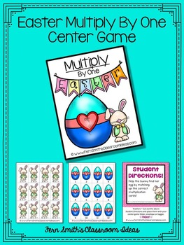 Easter Math A Quick and Easy to Prep Multiply By One Center Game