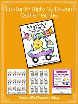 Easter Math A Quick and Easy to Prep Multiply By Eleven Center Game