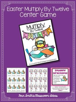 Easter Math A Quick and Easy to Prep Multiply By Twelve Center Game