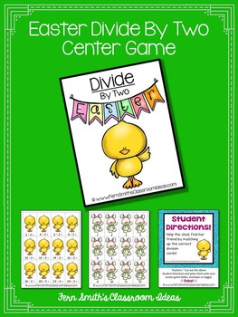 Easter Math A Quick and Easy to Prep Divide By Two Center Game