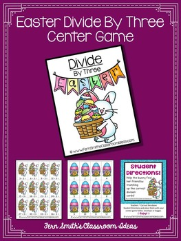 Easter Math A Quick and Easy to Prep Divide By Three Center Game