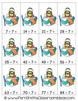 Easter Math A Quick and Easy to Prep Divide By Seven Center Game