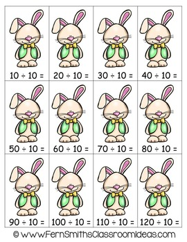 Easter Math A Quick and Easy to Prep Divide By Ten Center Game