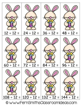 Easter Math A Quick and Easy to Prep Divide By Twelve Center Game