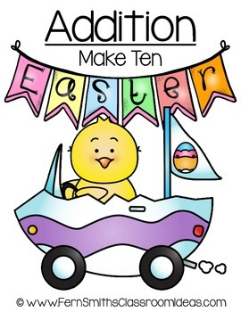 Easter Math A Quick and Easy to Prep Addition Make Ten Center Game