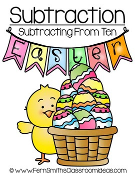 easter math a quick and easy to prep subtracting from ten center game Del Monte Quick and Easy