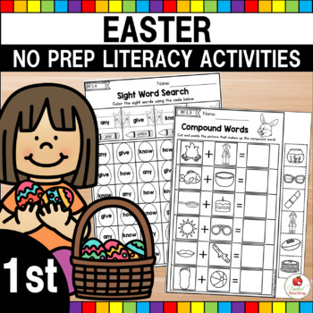 Easter 1st Grade Language Arts Worksheets (Common Core Aligned)