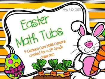 Easter Common Core Math Centers/Tubs