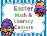 Easter 1st Grade Math & Literacy Pack (27+ Centers)