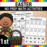 Easter 1st Grade Math Worksheets (Common Core Aligned)