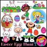 Easter 2  - B/W & Color clipart, illustration {Lilly Silly Billy}