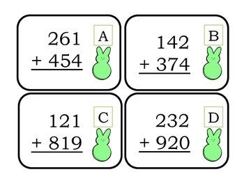 Easter 3 Digit Addition Math