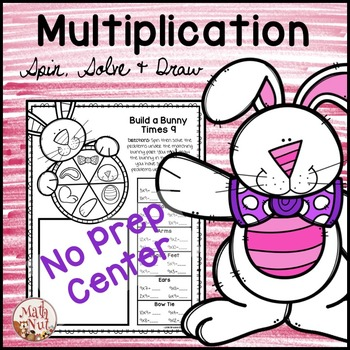 """Easter Math """"Multiplication Facts Activity"""""""