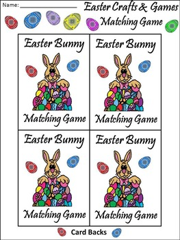 Easter Language Arts Activities: Easter Vocabulary Matching Card Game