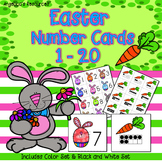 Easter Activities: Counting Cards - Numbers 1-20 - Number Sense - Ten Frames