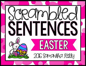 Easter Scrambled Sentence Station