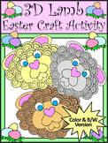 Easter Activities: 3D Easter Lamb Spring Craft Activity Packet