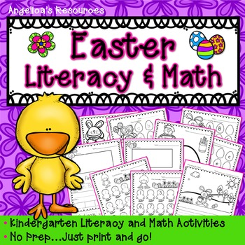 Easter Activities : Literacy and Math