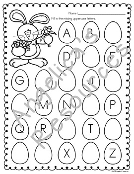 Easter Activities : Literacy and Math Printables - Just Print & Go!