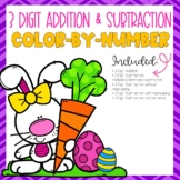 Easter 3 Digit Addition and Subtraction Color-By-Number