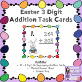 Easter 3 Digit, No Regrouping Addition Task Cards