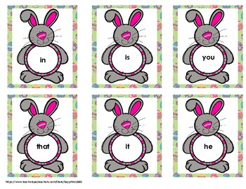 Easter 300 Fry Sight Words 'Bang' Game