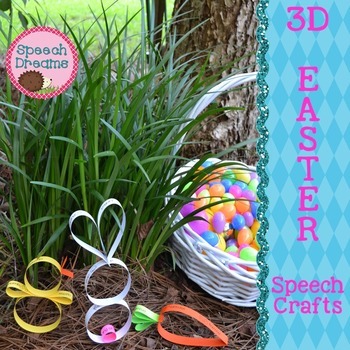 Easter 3D Speech Therapy Crafts {articulation language craftivities}