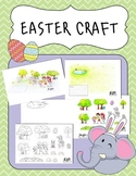 Easter 3D pop up craft activity Cut and Paste