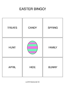 Easter 3x3 Bingo