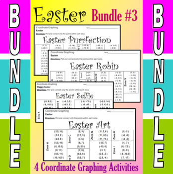 Easter - 4 Coordinate Graphing Activities - Bundle #3
