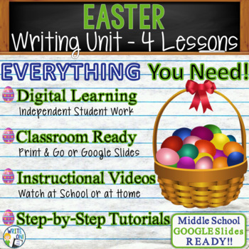 Easter Writing BUNDLE! - Argumentative, Persuasive, Expository, Narrative