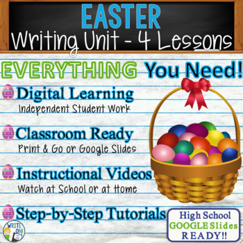 Easter Writing BUNDLE! - Argumentative, Persuasive, Expository, Narrative