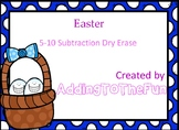 Easter 5-10 Subtraction Dry Erase Cards