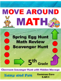 Easter 5th Grade Math Review Scavenger Hunt Common Core
