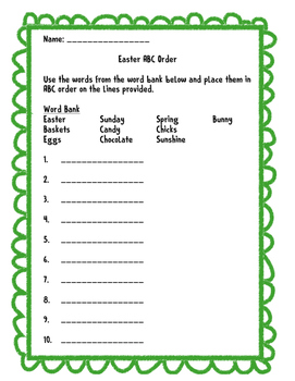 Easter ABC