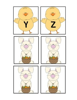 Easter ABC Game Freebie